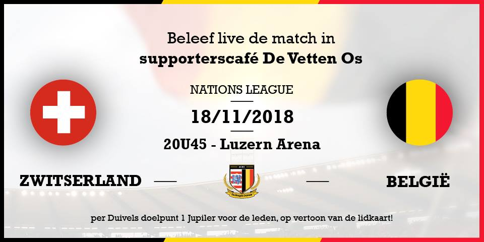 Zwitserland – België #NationsLeague